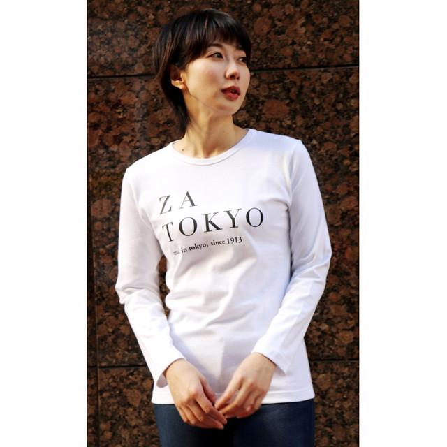 ZA TOKYO 長袖ソフトクルーネック(バインダー)Tシャツ Z007