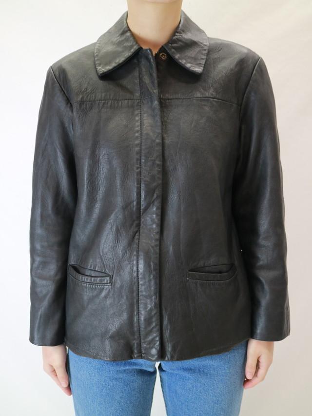 Brooks brothers leather shirt jacket【0495】