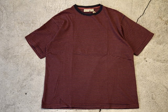 USED ST'JHONS BAY border T-shirt 90s T0237