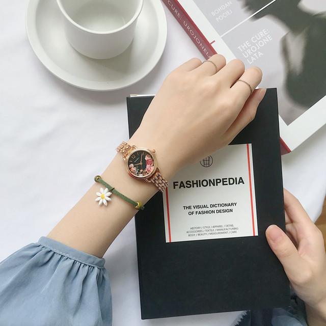 【小物】清新気質アップ合わせやすい韓国系シンプル腕時計