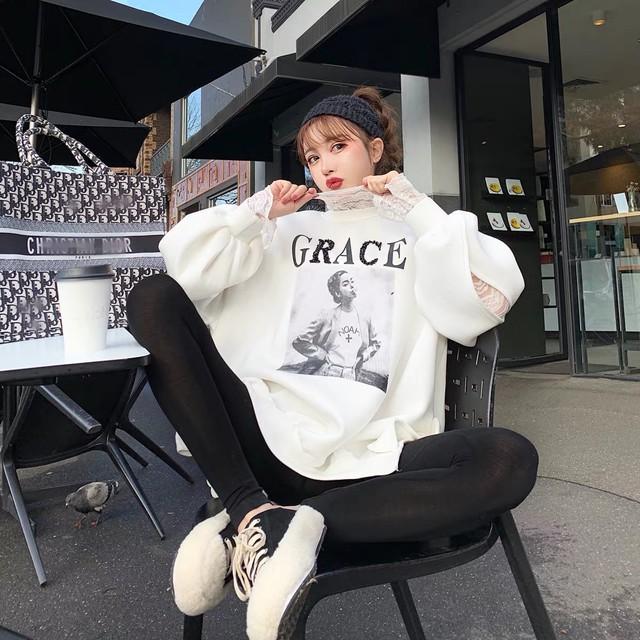 【即納】grace design sleeve sweat