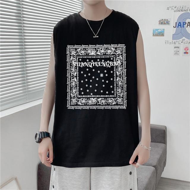 【メンズファッション】カジュアルプリントラウンドネックTシャツ44177666