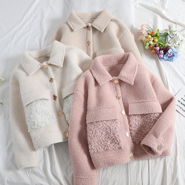 ♡全3色モコモコウールジャケット