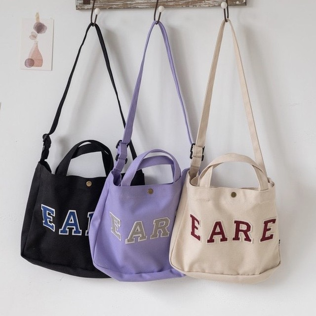 2way letter canvas tote PD1947