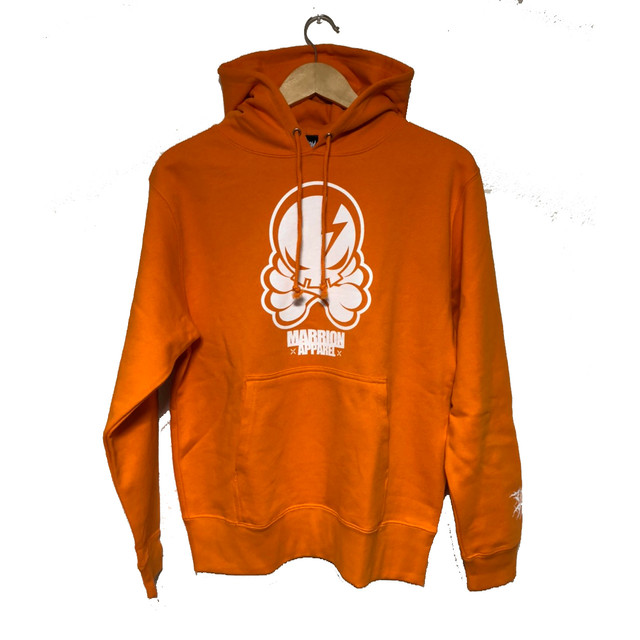 OCTOPUS SKULL HOODIE (Orange×White)