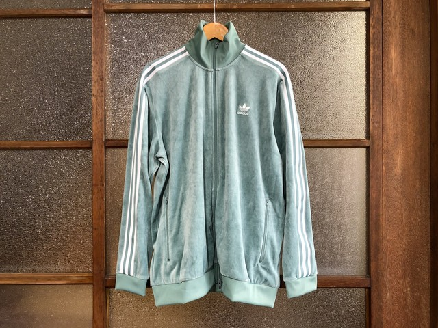 ADIDAS COZY VELOUR TRACK TOP (GREEN)