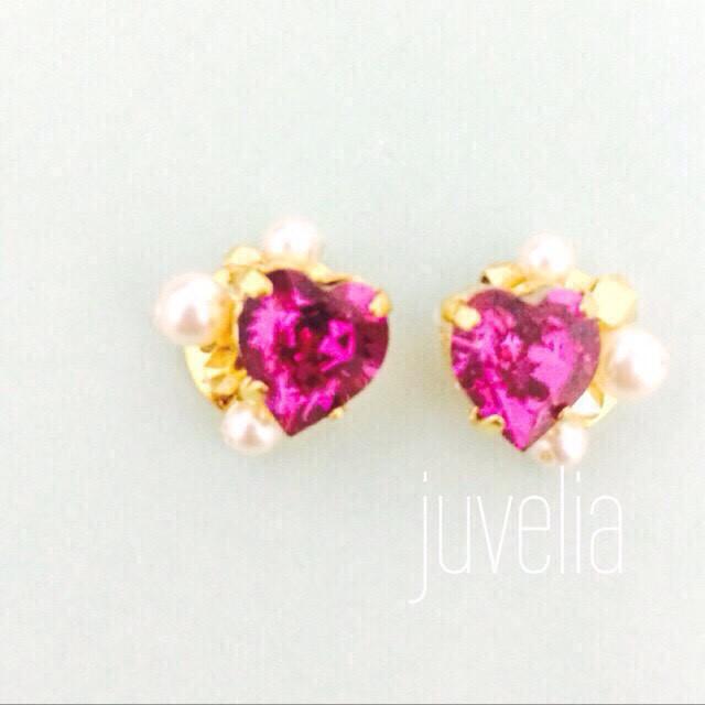 petit heart×fuchsia pink