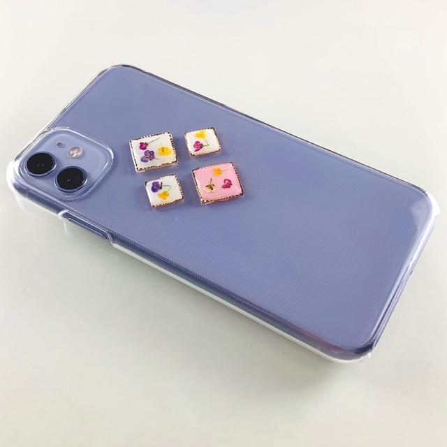【自分で選べる!ほぼ全機種対応スマホケース❁】押し花パーツのスマホケース Type-C  押し花 レジン iPhone/Xperia/AQUOS/Galaxy