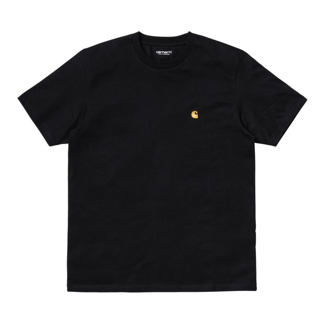 CARHARTT W.I.P S/S CHASE T-SHIRT - BLACK / GOLD
