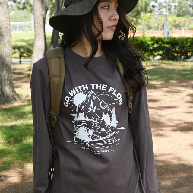 ACTPROS × OUTDOOR MONSTER GWTF 5.6oz ヘビーウェイト ロングスリーブ White Logo TEE【13colors】
