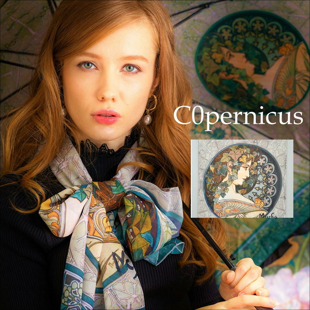 ミュシャ 裏窓 ストール 浜松雑貨屋Copernicus