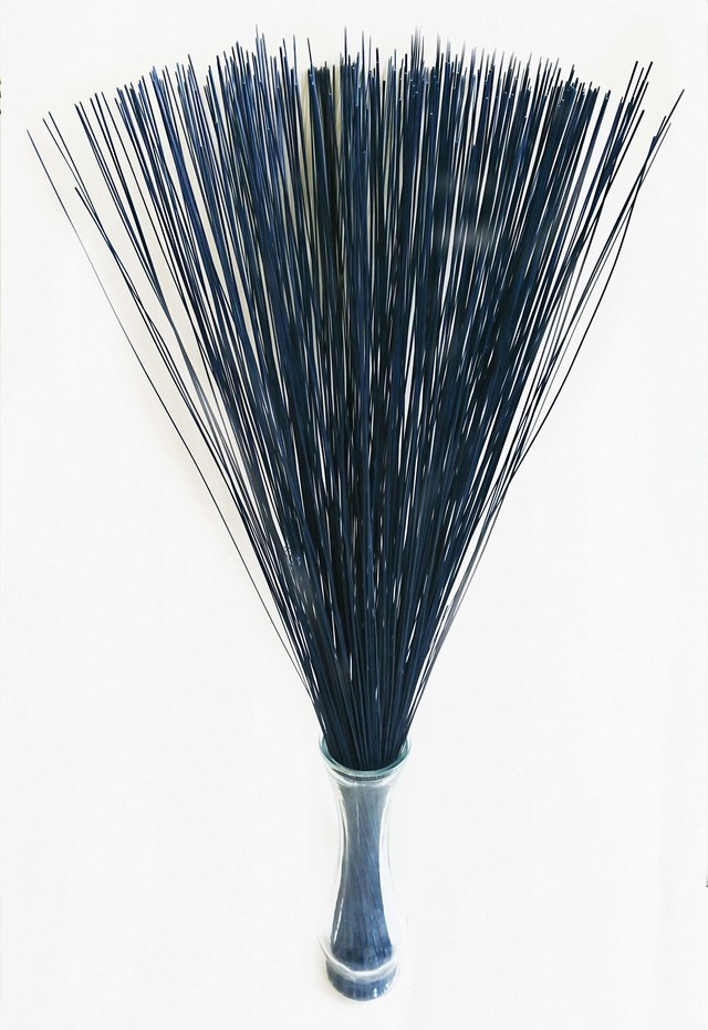 【イ草フラワー ダークブルー】Rush Grass Flower Dark Blue 70cm