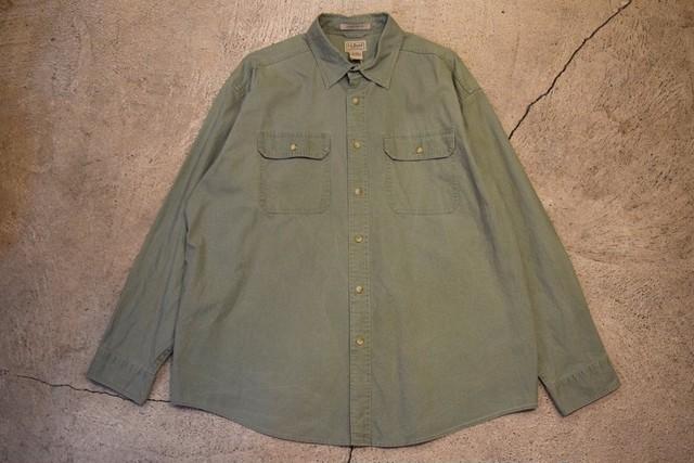 USED 00s L.L.Bean L/S Cotton Shirt -XLarge S0593