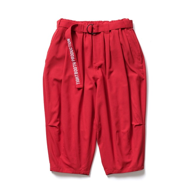 TIGHTBOOTH CANAPA CROPPED PANTS RED