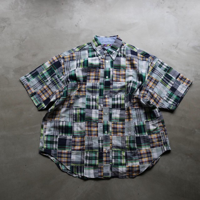 is-ness / PATCHWORK CHECK SHORT SLEEVES SHIRT