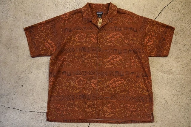USED 00s patagonia A/C print shirt -Large S0555
