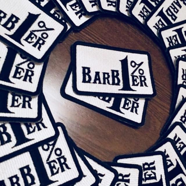 大日本刈上倶楽部 BARBER 1% ワッペン ホワイト