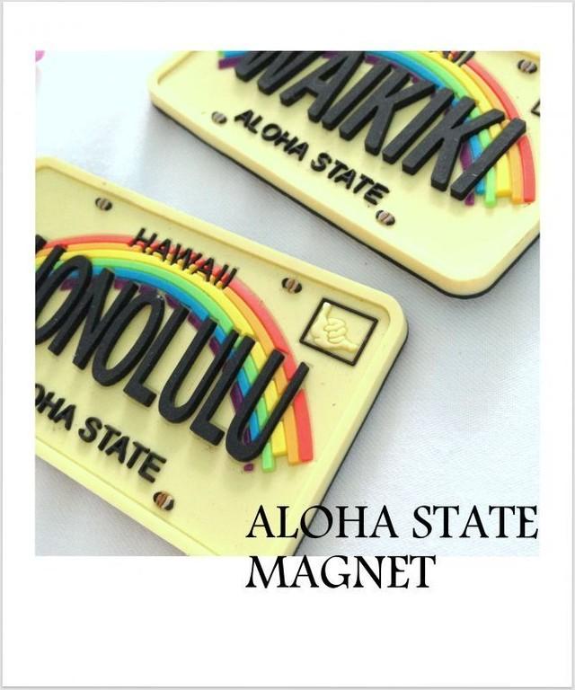 Hawaiiナンバープレート ラバーマグネット♪