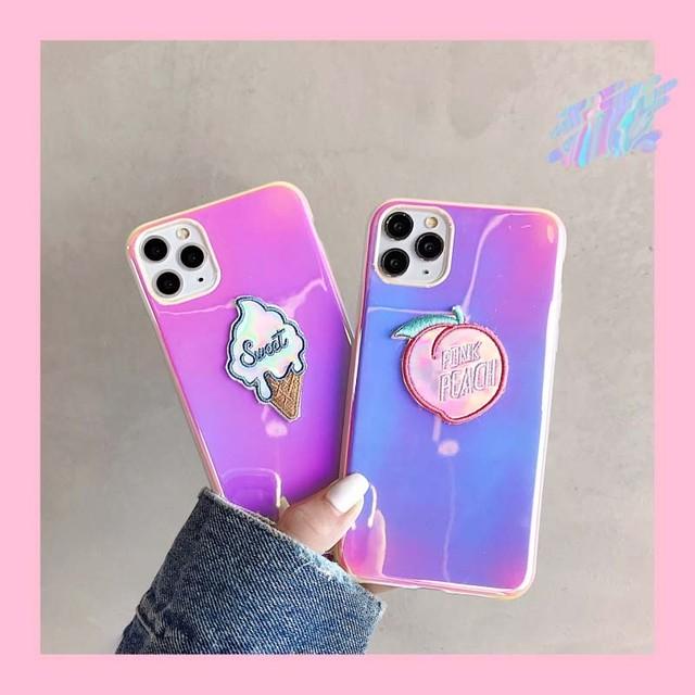 【オーダー商品】Ice-cream Peach iphone case