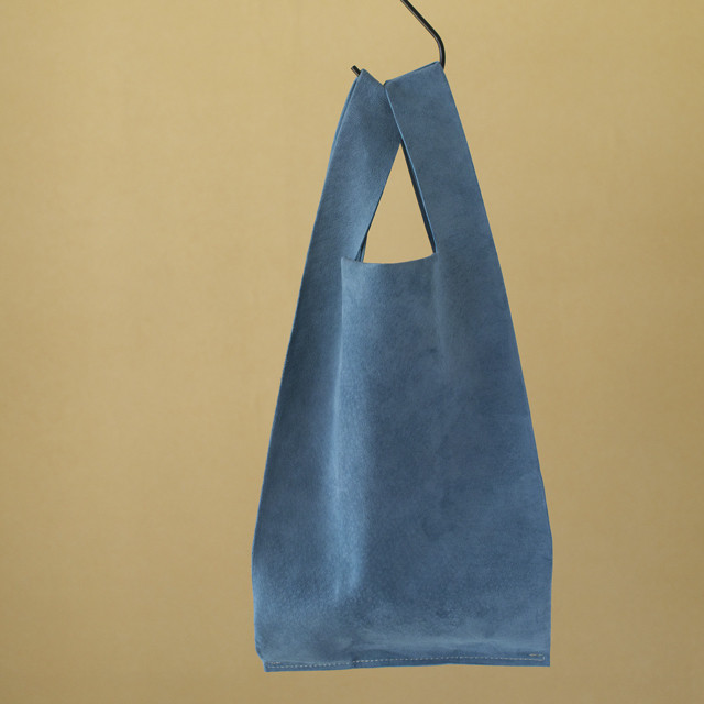 Teha'amana テハマナ Pig suede shopping bag ブルー