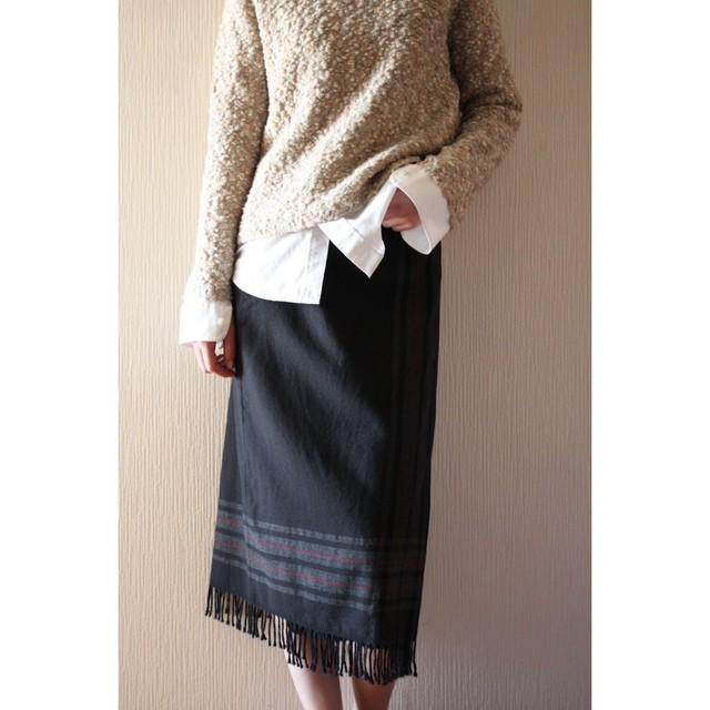 Vintage fringe skirt