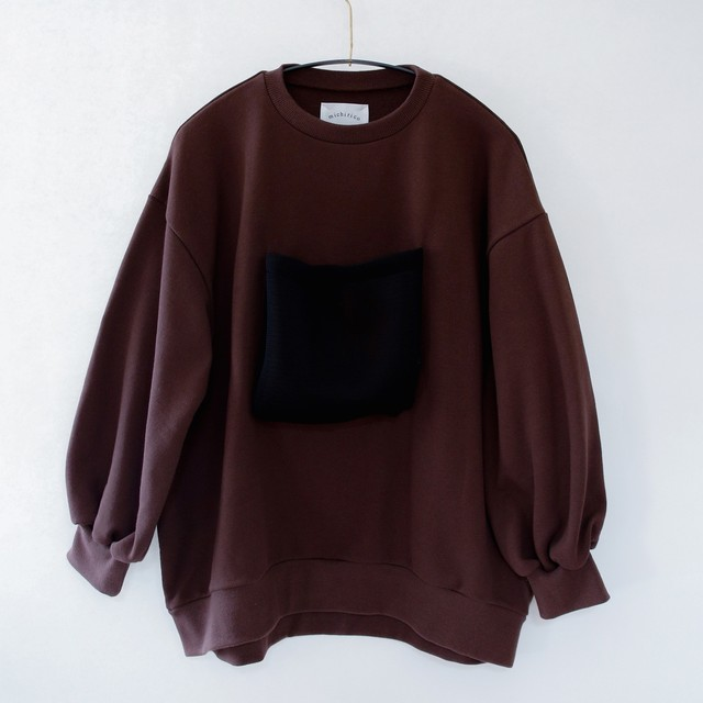 《michirico 2020AW》Front pocket sweats / brown / F(大人)