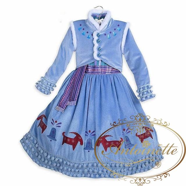 アナ コスプレ キッズ 子供 子供服 クリスマスプレゼント かわいい お姫様ごっこ おめかし