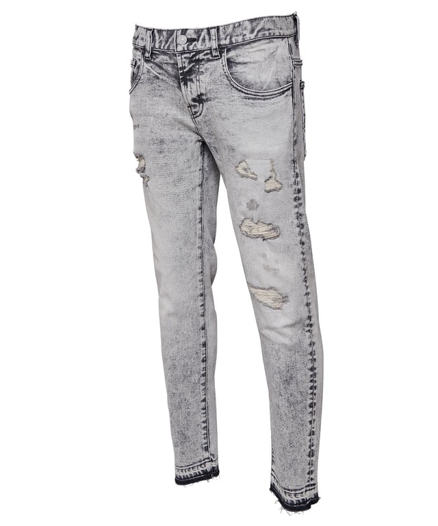 VINTAGE CHEMICAL SKINNY BLACK DENIM[REP084]