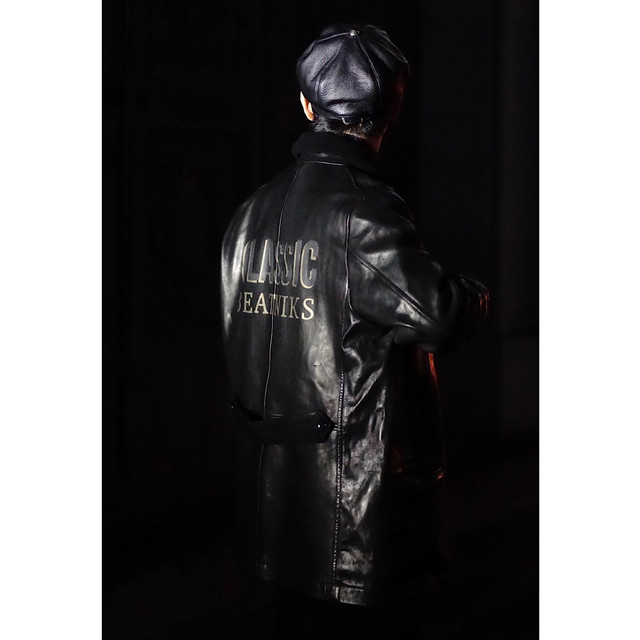 H/W CUSTOM HORSE LEATHER CAR COAT GINZA EXCLUSIVE