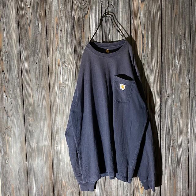 [Carhartt]navy big long T shirt