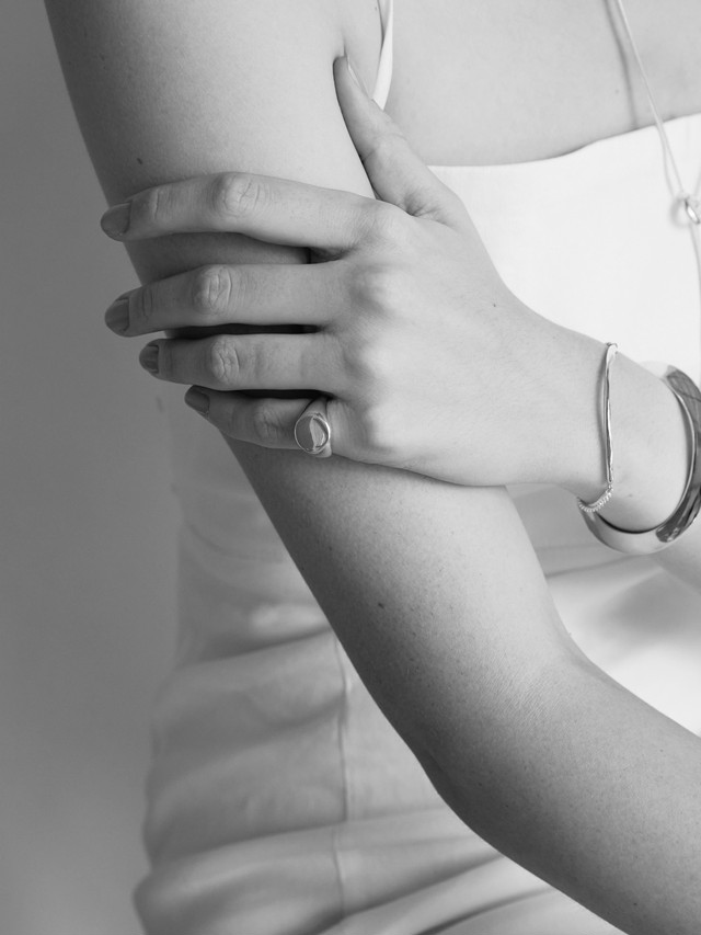 <coming soon 8月中旬販売予定>signet round ring silver