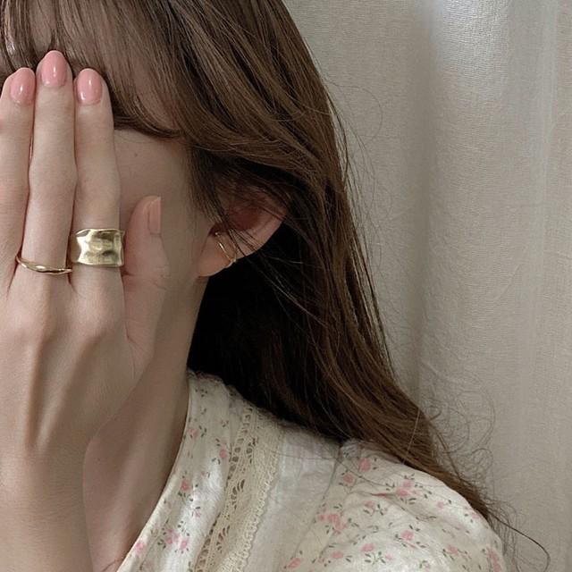 【即納】10%OFF Distortion ring (r-a) リング / gold / by no. Lala : ACC91610104750