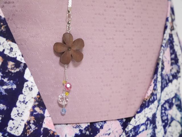 【Y-29】お花の帯飾り(根付け)《パステルカラー》