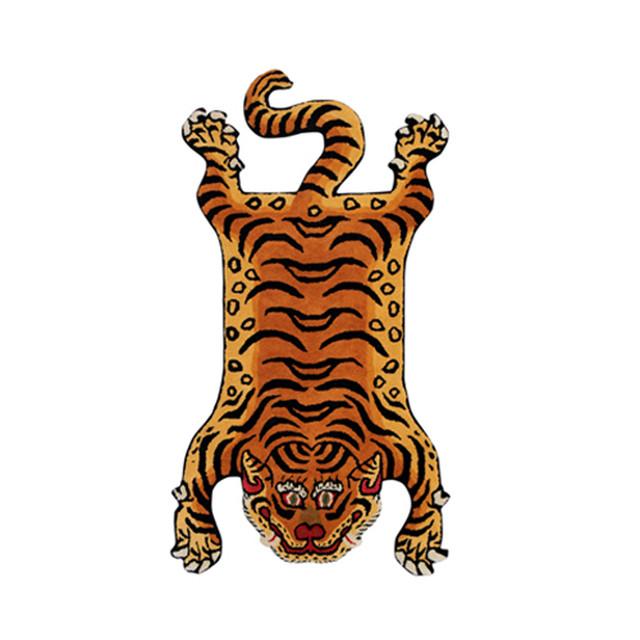 チベタンタイガーラグ 顔パターン【2】M 【再入荷】