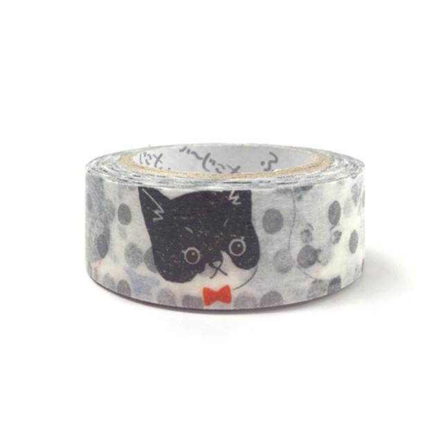 ふーじこちゃん マスキングテープ【ドット猫】画像 ふーじこちゃん マスキングテープ【ドット猫】