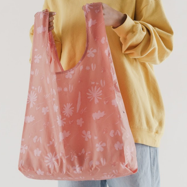 Standard BAGGU サンプリントフラワー ピンク