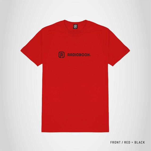 RADIOBOOK オリジナルロゴTシャツ レッド