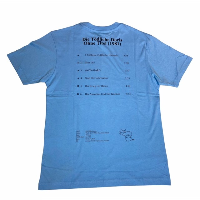 032c FRONT AND BACK PRINT TEE BLUE