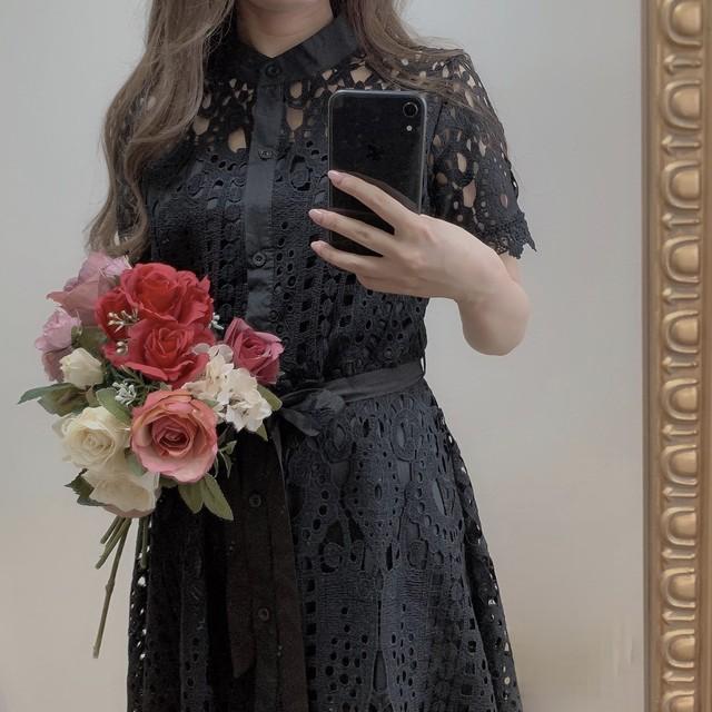 ୨୧ paris lace dress 4color