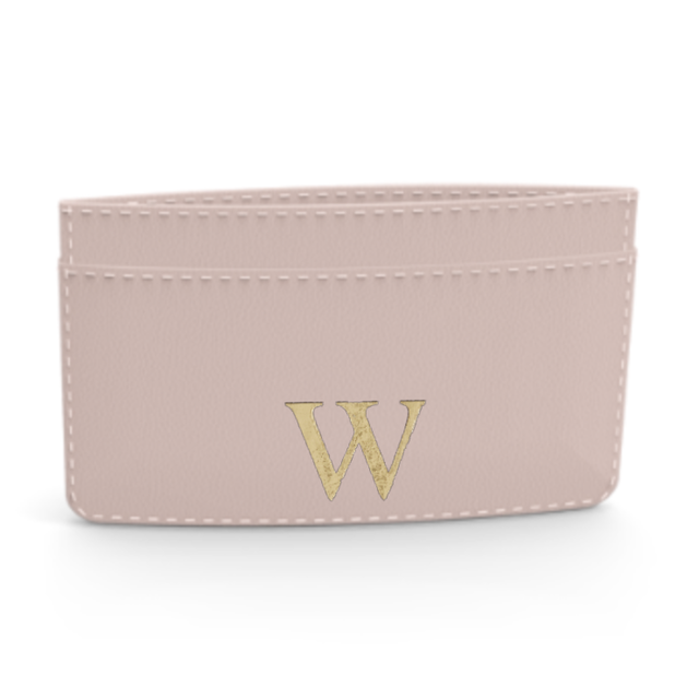 Premium Smooth Leather Card Case (Cotton Pink)
