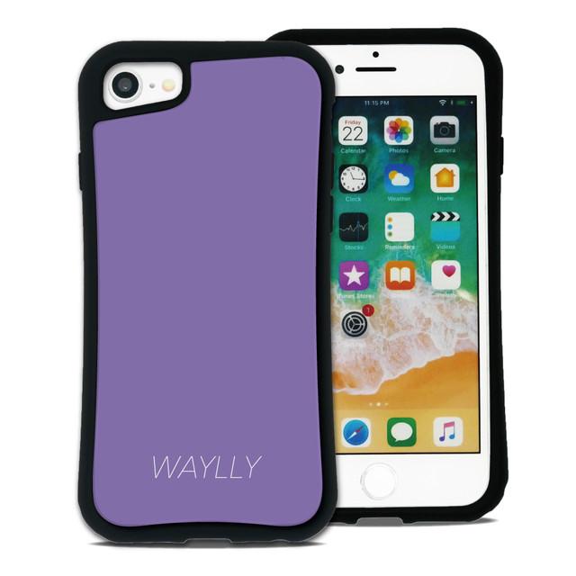 スモールロゴ パープル セット WAYLLY(ウェイリー) iPhone 11 pro max iPhone 8 7 XR XS X 6s 6 Plus XsMax対応!_MK_
