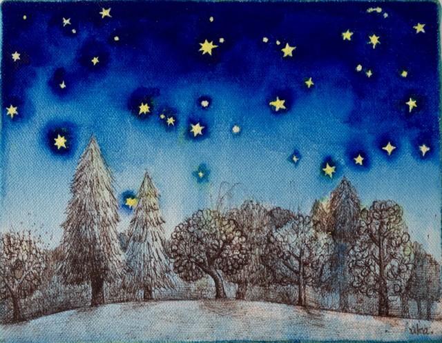 [木と星たち]