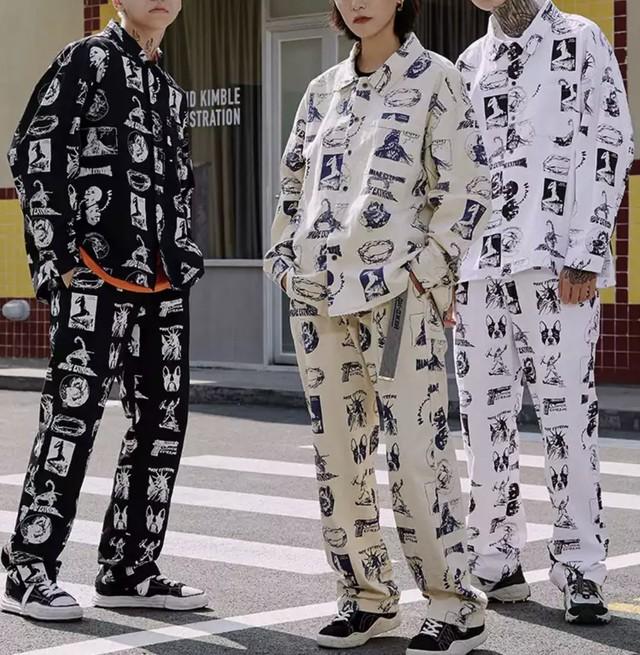 【売れ筋】HUMANS奇抜デザインシャツ 3カラー