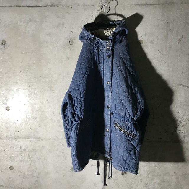 [used]denim quilting jacket