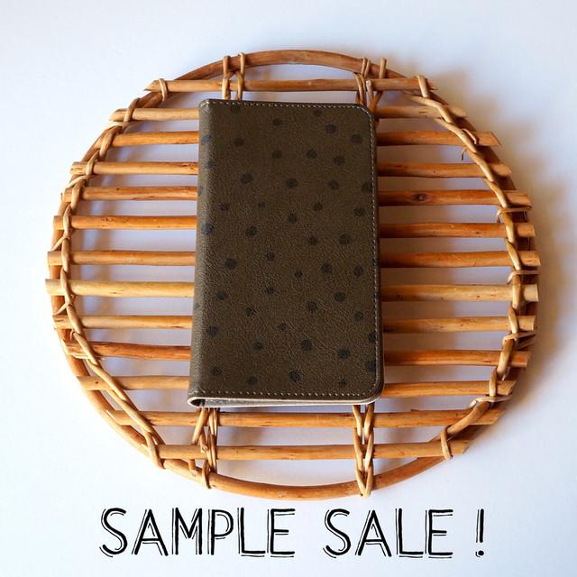 Android Lサイズ 帯なし手帳型スマホケース fuwa fuwa dot【SAMPLE SALE !】