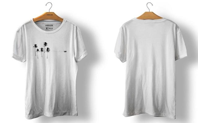 OSKLEN オスクレン Tシャツ STONE VINTAGE COQUEIRO 5 BRANCO size import men's S