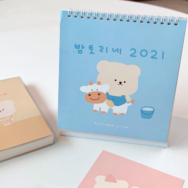 [BAMTOREE] 2021 卓上カレンダー