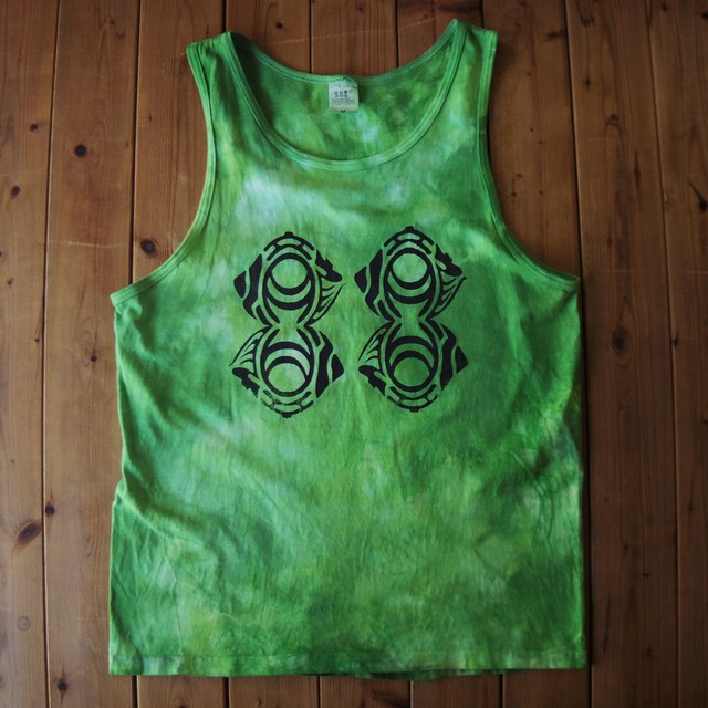 "TKHOME FACTORY ""ORIGINAL LOGO"" TANK TOP (Uneven dyeing) M #Green"