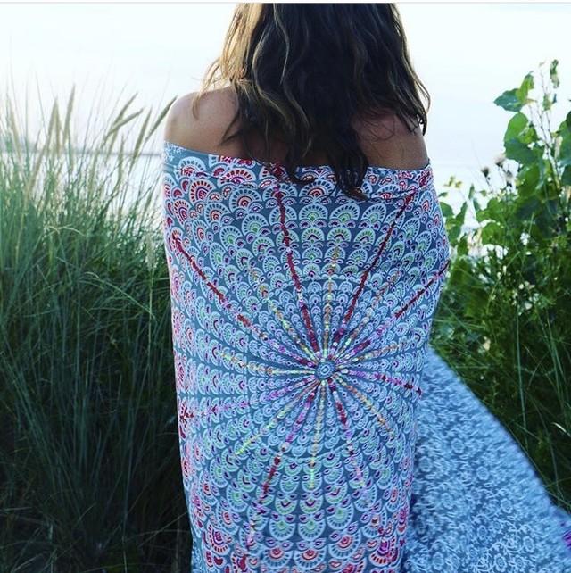 ◆Mon ange Louise◆ BEACH SALONG(grey)ビーチサロン 大判ストール