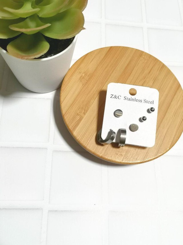ピアス3種類 シンプルなシルバーピアスのまとめ売り セット販売 メンズもOK